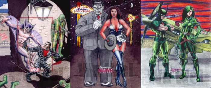 Marvel sketchcards by whu-wei