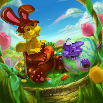 Spring sprung dragons by The-SixthLeafClover