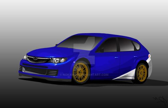 subaru impreza gold wheels by nokamote