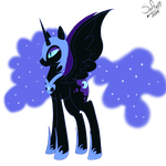 Nightmare Moon by Drawings-SofiaWolf