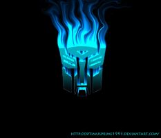 Flaming Autobot logo by Optimusprime1993