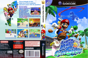 Super Mario Sunshine Boxart by anotherblazehedgehog