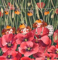 Fairies and poppies by frecklednose124