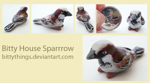 Bitty House Sparrow - GIFT by Bittythings