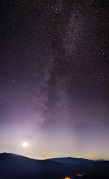Moon and  Milky Way by empyrea1