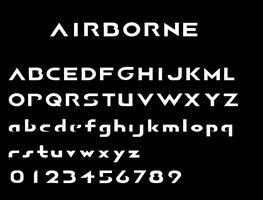 AIRBORNE Font by Terran-21