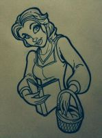 Belle pen sketch by Anamated