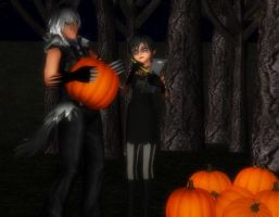 ..:Preparing For Halloween - Gathering Pumpkins:.. by SanctuarysEmbrace