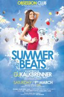 Summer Beats Flyer PSD Template by outlawv15