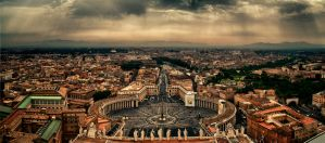 View from St. Peter's Basilica HDR Panorama by scwl