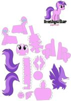 Amethyst Star Papercraft by Grulaz