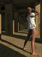 Posing in a Egypt Building by Sedorrr