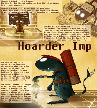 Hoarder Imp by Retro-Death