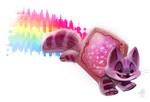 Daily Paint #672. Nyan Cat by Cryptid-Creations