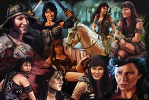 Xena Studies by ltramaral