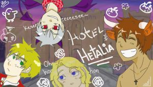 EH: Hotel Hetalia Bad Touch Trio by ExclusivelyHetalia