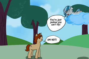 Get Down From There! by afroquackster