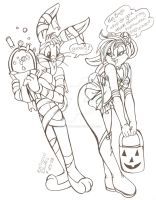 Bugs and Lola on halloween by Crystal-for-ever
