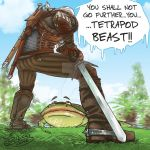 Witcher vs tetrapod by Piter83