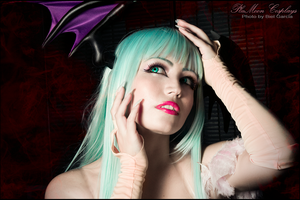Morrigan Cosplay CloseUp by plu-moon