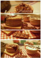 Chocolate Cake Prep Board by TheMiniatureBazaar