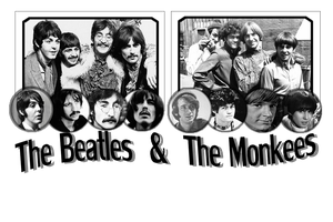 The Beatles and The Monkees by PhotoSnappingTurtle