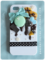 Chocolate Mint iPhone 4/4s Decoden case by PeachMilktea