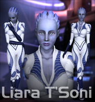 Liara T'Soni - For Sims 3 by D3N1ZFTW