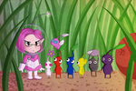 Brittany and the Pikmin by Icy-Snowflakes