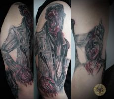bloody horror szene in prog tat by 2Face-Tattoo