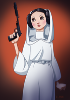 Princess Leia by pungang