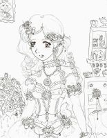 princess rose curly hair by electricjesuscorpse