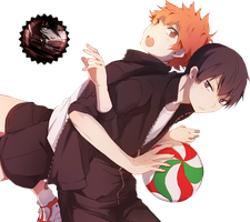 [Render] Hinata and Kageyama by LiriaSky