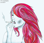 Cigarette Girl #23 by Crystalspike