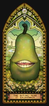 The stained glass pear of Salamanca by longestdistance