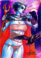The Morrigan Sketch Card - Keith O'Malley by Pernastudios