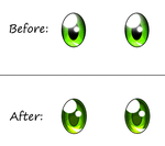 Before and after eyes by SparDanger