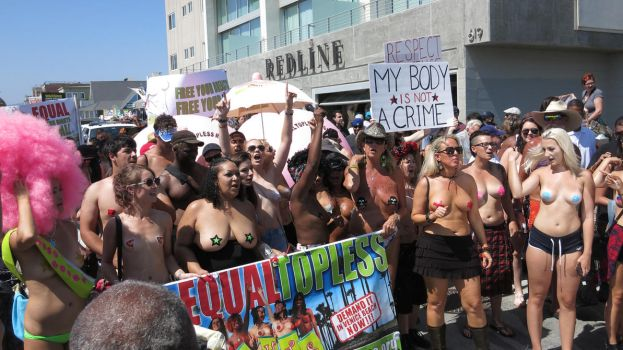 2016 Go Topless Day Parade Venice Beach, CA 26 by iancinerate
