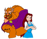 Beauty and the beast Colouring in by MissSparkle1