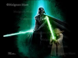Star Wars - Vador and Yoda by Mackain