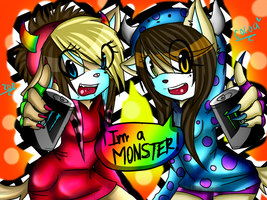 Collab with RawrBloodyPanda IMA MONSTER BOTDF by LittleChewrrie