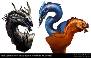 His Majesty's Dragon: Celestial, Longwing, Regal C by monsterling