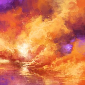 Fire on the lake by ZsoltKosa