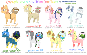 MLP Collab - BiomeDome Adoptables #1-8 - CLOSED by MyLilAdoptables