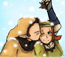 Mistletoe Smooch by Hylian-Link