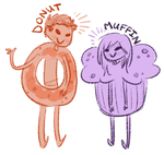 Donut and Muffin by rivliex
