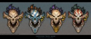 Laughing Skull masks by FirstKeeper