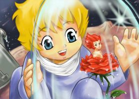 Little Prince and Rose by Claudiney