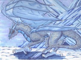 Ice Dragon by Lollipopdunce
