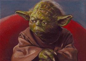 Yoda card 261 by charles-hall